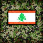Amy kamouflage uniform, libanon — Stockfoto