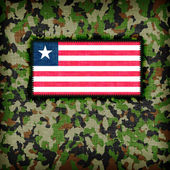 Amy camouflage uniform, Liberia — Stock Photo