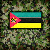 Amy camouflage uniform, Mozambique — Stockfoto