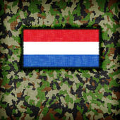 Amy camouflage uniform, the Netherlands — Foto Stock