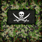 Amy camouflage uniform, Pirate — Stock Photo
