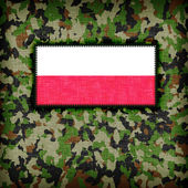 Amy kamouflage uniform, polen — Stockfoto