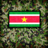 Amy camouflage uniform, Suriname — Stock Photo