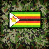 Amy camouflage uniform, Zimbabwe — Foto Stock