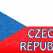 Flag of the Czech Republic stitched with letters — Foto de Stock