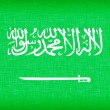 Flag of Saudi Arabia stitched with letters — Stock Photo