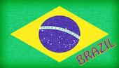 Bandeira do Brasil com letras — Fotografia Stock