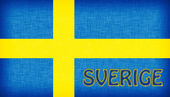 Flag of Sweden stitched with letters — Stock Photo