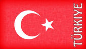 Flag of Turkey with letters — Stock Photo