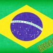Flag of Brazil with letters - Stock Photo