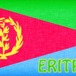 Flag of Eritrea stitched with letters — Stock Photo