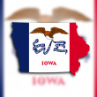 Map of Iowa — Stock Photo