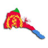 Map of Eritrea — Stock Photo
