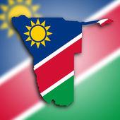 Map of Namibia — Stock Photo