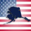 Foto Stock: Map of Alaska