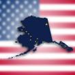 mapa de alaska — Foto de Stock