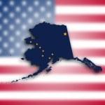 Mapa Aljaška — Stock fotografie