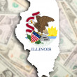 Map of Illinois — Stock Photo