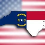 Map of North Carolina — Stock Photo