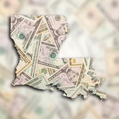 Map of Louisiana — Stock Photo