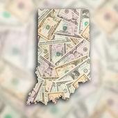 Map of Indiana — Stockfoto