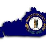 Map of Kentucky — Stock Photo