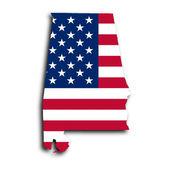 Map of Alabama — Stock Photo