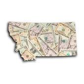 Map of Montana — Stock Photo
