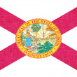 Stock Photo: Linen flag of US state of Florida
