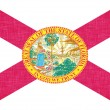 Linen flag of the US state of Florida — Stock Photo