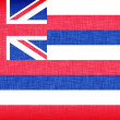 Linen flag of the US state of Hawaii — Stock Photo