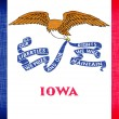 Stock Photo: Linen flag of US state of Iowa
