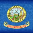 Stock Photo: Linen flag of US state of Idaho
