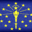 Stock Photo: Linen flag of US state of Indiana