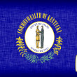 Stock Photo: Linen flag of US state of Kentucky