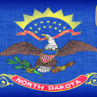 Linen flag of the US state of North Dakota — Stock Photo