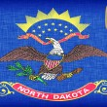 Linen flag of the US state of North Dakota — Stock Photo #23786027