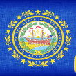 Stock Photo: Linen flag of US state of New Hampshire