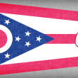 Stock Photo: Linen flag of US state of Ohio