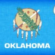 Stock Photo: Linen flag of US state of Oklahoma