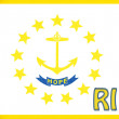 Stock Photo: Linen flag of US state of Rhode Island