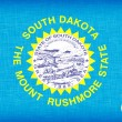 Stock Photo: Linen flag of the US state of South Dakota