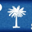 Stock Photo: Linen flag of US state of South Carolina