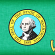 Stock Photo: Linen flag of US state of Washington