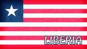 Toile drapeau du Libéria — Photo