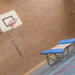Interior of a gym at school — Stock Photo