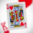 Playing card, king of hearts — Stock Photo