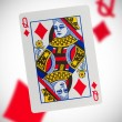 Playing card, queen — Stock Photo