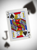 Playing card, jack of spades — Stock Photo