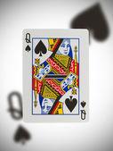 Carta da gioco, regina — Foto Stock